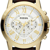 Fossil FS4767 Leather Strap Mens Watch