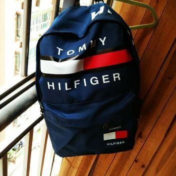 LMFHQ9 TOMMY HILFIGER: Casual Sport Laptop Bag Shoulder School Bag Backpack H Z