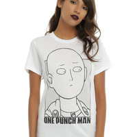 One Man Punch Saitama Outline Girls T-Shirt