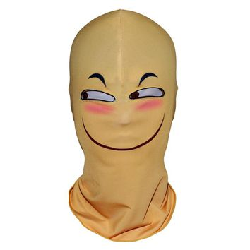 Yellow Character Funny Head Interesting Balaclava Motorcycle Party Smile Happy Joy Halloween Full Face Masks
