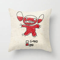 Stitch good&bad meter.... Throw Pillow by Emiliano Morciano (Ateyo)