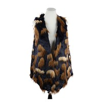 Beatnix Fashions Long Faux Fur Vest with Pockets