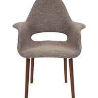 Miso Gray Upholstered Mid-Century Modern Chair