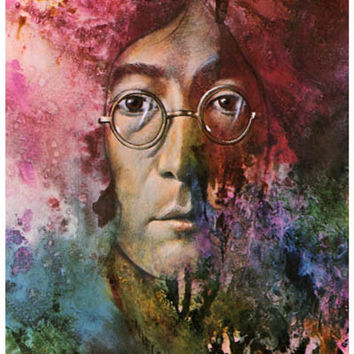 John Lennon Let It Be Psychedelic Beatles Poster 11x17