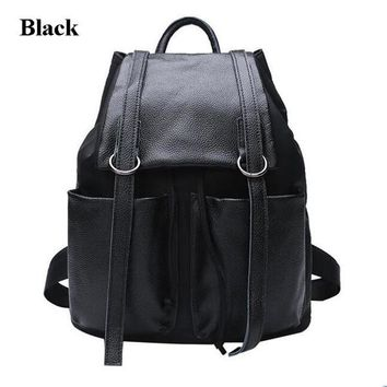 University College Backpack P.P.X Split Leather Daily  Casual Women's Travel Bag Female School Shoulder Bags Teenager Girls  Student Bag M616AT_63_4