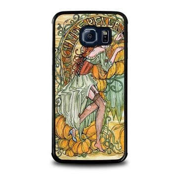 cinderella art disney samsung galaxy s6 edge case cover  number 1