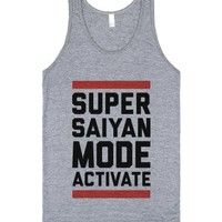 Super Saiyan Mode Activate-Unisex Athletic Grey Tank