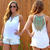 Summer Style Hollow Out Sleeveless Sexy Backless Vest Casual Lace Tops T-shirts [4970290116]