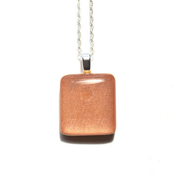 Rose gold square pendant necklace wood necklace earth day eco friendly bridesmaid jewelry fall jewelry starlightwoods