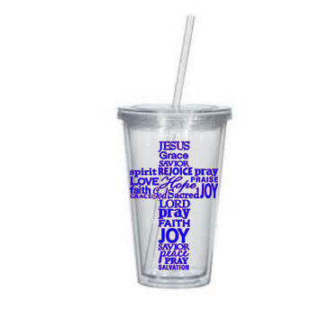 Custom 16 oz Cross Tumbler