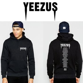 ca kuyou Yeezus west Hoodies hooded men Long T-shirts Graphic Sweatshirts yeezy pigalle