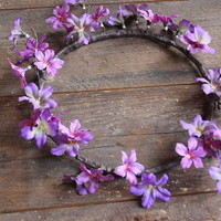 Purple Jasmine Flower Crown