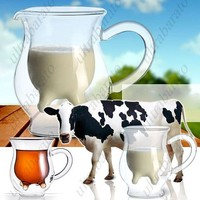 Creative Cow Udder Creamer Jug Glass Food Safe Drinking Ware Cup Glassware for Kitchen  from UltraBarato Gadgets