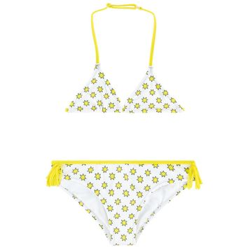 Zadig & Voltaire Girls White and Yellow Star Bikini
