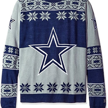 Dallas Cowboys Forever Collectibles KLEW Big Logo Ugly Sweater Sizes S-XXL w/ Priority Shipping