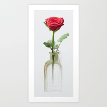 Smell the Rose Art Print by IvanaW