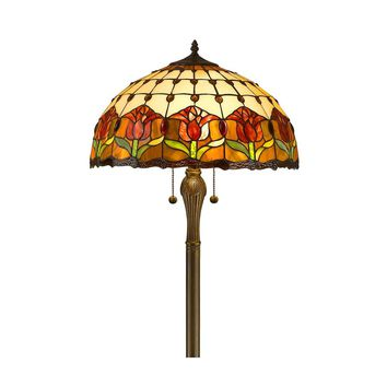 "Amora Lighting AM002FL18 Home Decorative Tiffany Style Tulips Floor Lamp 18"" Shade"