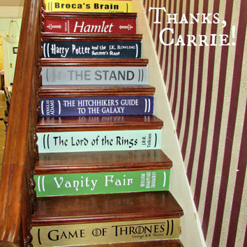 Book Stairs DIY Vinyl Decals