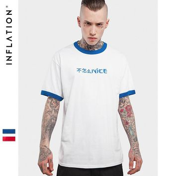 HCXX INFLATION Brand  Patchwork Letter Printed Crew Neck