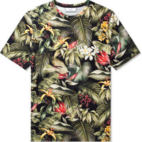 Black Tropical Printed Jersey T-Shirt