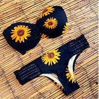 Sexy Sunflower Bikini Swimwear Swimsuit