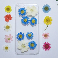iPhone 6 cover, iPhone 6 Plus Case Clear, Pressed Flower iPhone 6s Case, Clear iPhone 6 Case, iPhone 6 Plus Case clear,daisy iphone case