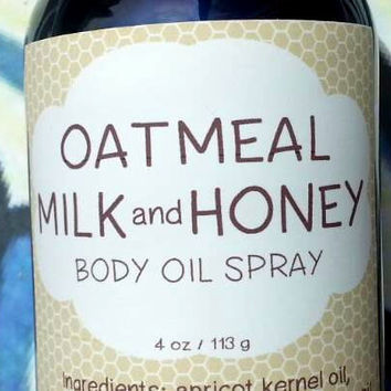 Oatmeal Milk and Honey Body Oil Spray ~ Dry Oil Spray ~ Moisturizing Body Oil ~ Spray Oil ~ Body Spray