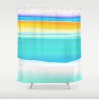 The Arctic Sea Abstract 2 Shower Curtain by Jen Warmuth Art And Design