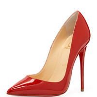 So Kate Patent Red Sole Pump, Red