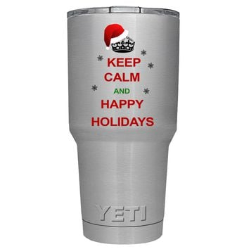 YETI Keep Calm and Happy Holidays 30 oz Tumbler Cup