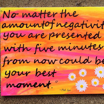 Mod Sun quote canvas painting