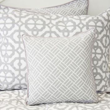 Caden Lane® Mod Lattice Square Toss Pillow in Grey/White