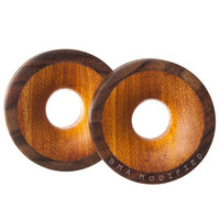 """Build Your Combo Thick Wall Tunnels Wood Plugs (19mm-38mm) (3/4""""- 1' 1/2"""")"""