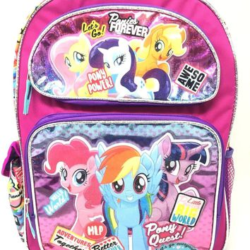 "Hasbro My Little Pony Adventure Together Friendship Forever 16"" Backpack"