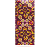 "Jane Smith ""Indian Jewelry Floral"" Purple Gold Luxe Rectangle Panel"