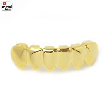 Jewelry Kay style Men's GRILLZ Small Plain 14k Gold Plated Bottom Teeth * Made IN KOREA* S 001 G