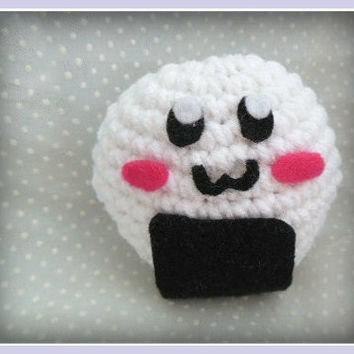 Crochet Blushing Onigiri Plush
