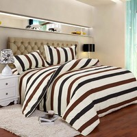 4 colors Printed modern style Bedding Sets bed linen for children King size  Quilt Duvet Cover Pillow