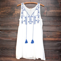 let's go to cancun sun dress in white