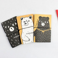 Novelty Sweat Bear Blank Page Graffiti Book Notebook Diary Book Exercise Composition Notepad Escolar Papelaria Gift Stationery