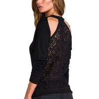 WOODLEIGH Rue Top in Black