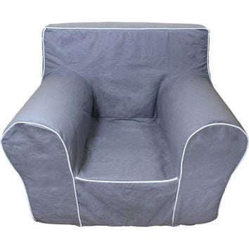 Grey Chair Cover for Foam Childrens Chair