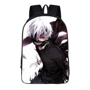 Anime Backpack School Japanese kawaii cute Tokyo Ghoul 2PC Set with Pencil Case Student Backpacks DIY Printing Cool School Student Bags For Kids Book Bag AT_60_4