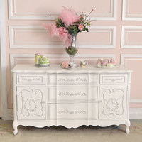 8304 - Chic Rose Wreath Buffet Credenza with 2 Doors - $895 - The Bella Cottage