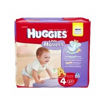 Size 4 Baby Diaper Huggies Little Movers Tab Closure (22-37 lbs) | Huggies #40767