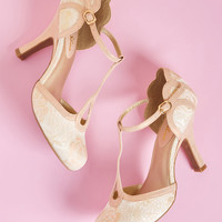 Ruby Shoo Dance Floor Dazzler T-Strap Heel in Blush