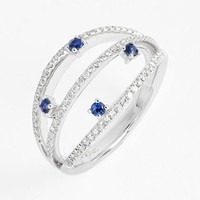 Women's Bony Levy Diamond & Sapphire Stack Ring (Limited Edition) (Nordstrom Exclusive)