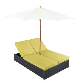 Arrival Outdoor Patio Chaise in Espresso Peridot