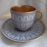 Royal Doulton China Cabinet Coffee Can/Cup & Saucer (1902 - 1922) - Collector's item
