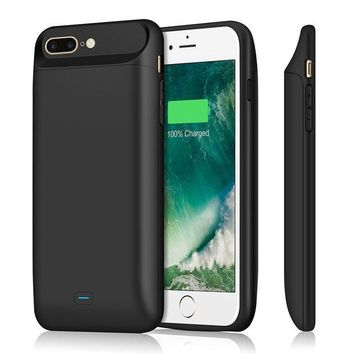 PEAPGQ6 iPhone 7 plus 8 plus Battery Case 7200mAh, Upgraded iPosible Portable iphone 7 plus Charging Case Extended Battery Pack, Protective Juice Pack Charger Case for iPhone 8plus(5.5inch)